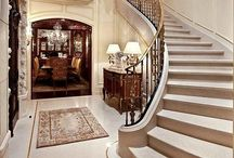 Dream Foyers & Stairs / Beautiful classy  spectacular inspiring  enticing dream fflyers, entry ways, vestibules, stairs, staircases and atriums