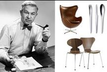 ● Arne Jacobsen / Arne Jacobsen (1902-71), architect and designer. Educated at the Royal Danish Academy of Fine Arts, School of Architecture in Copenaghen, professor at the Academy.  As a designer, Jacobsen made prototypes for furniture, textiles, wallpaper, silverware etc. Among his most famous designs are The Ant™, Series 7™, The Egg™ and The Swan™ , and the tableware Cylinda-Line.