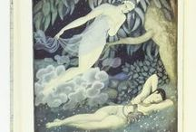 Edmund Dulac First Edition Books and Illustrations / Edmund Dulac, Arabian Nights, Princess Badoura, Fairy Tales and more