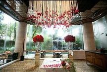 Inspired-Ceiling Ideas/Hanging Flowers / unique ceiling /over head florals/lights/candles/balloons/ / by Lisa Francis