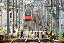 """Arakawa Toden / The last tramway line in Tokyo . A journey through the """"shitamashi"""", the real life in the backstreets and small woodhouses of the Tokyo suburbs."""
