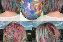 colorful hairs