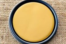Chalk Paint® Arles / The inspiration of the rich glowing yellow is the color  associated with the town of Arles in the South of France. It is a rich yellow ochre with a hint of orange juice and with Old White added to the color which is warm and gentle. It is a sophisticated yellow.
