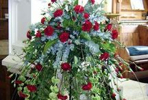 Wedding Venue inspired flowers / Floral Church Pedestal and pew ends