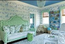 Kids Rooms / One of my favorite type of room to decorate is a KIDS space... the color and the fun and the toys. These are some of my favorite kids spaces... everything from bunk beds to storage to rocking chairs.