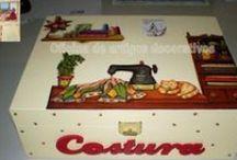 Caixas Decoradas / Caixas decoradas com varias utilidades