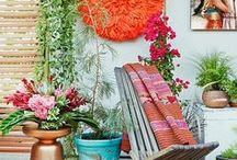 Pretty Porches / Our new house has two small porches and figuring out the best way to decorate them has been such fun. SO many gorgeous outdoor spaces with inspiration for furniture and plants and accessories.