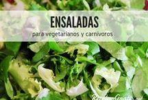 Ensaladas para adelgazar y engordar / Frescas, templadas, con carne, con pescado, verdes, saludables... y un sinfín de recetas de ensaladas fáciles y deliciosas para todas las épocas del año. Las ensaladas no son aburridas y aquí te lo demostramos, así que ¡dale una oportunidad a las ensaladas! #RecetasGratis #Ensaladas #RecetasdeCocina #RecetasFáciles #ComidaSana