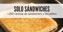 Solo sándwiches / Aprende a preparar los mejores sándwiches con RecetasGratis.net. Combinaciones exquisitas, sándwiches gourmet, sándwiches para desayunar y para cenar.. bocadillos dulces y salados. Si eres una fan de los sándwiches aquí encontrarás las recetas que harán que se te haga agua la boca. ¡A que esperas!  #RecetasGratis #RecetasdeCocina #Recetasfáciles #Sándwiches #SándwichesIdeas #Bocadillos #Bocatas