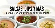 Con salsa sabe mejor / Encuentra todas las recetas de salsa para carnes, salsa para ensaladas, salsa para pastas... dips, mermeladas y todas esas preparaciones que están hechas para realzar el sabor de tus mejores platos. En RecetasGratis.net tenemos lo que te gusta y lo que necesitas y más si se trata de recetas de salsas. #RecetasGratis #RecetasFáciles #RecetasdeCocina #Dips #Salsas #RecetadeSalsas #SalsasPara