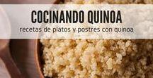 Cocinando con quinoa / Descubre increíbles recetas con quinoa en este tablero con preparaciones paso a paso en la que la quinoa es el ingrediente principal. Encuentra nuevas ideas y cuida tu cuerpo con recetas saludables y deliciosas, deja que la quinoa entre en tu vida y en tu menú. #RecetasGratis #RecetasdeCocina #RecetasFáciles #RecetasQuinoa #Quinoa #QuinoaRecetasEspañol
