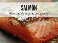 Salmón y más salmón / El salmón es una fuente de Omega 3 muy potente, de hecho, si comer pescado es saludable, pescado azules como el salmón no pueden faltar en tu dieta. En RecetasGratis te mostramos las mejores recetas con salmón, todo tipo de platos con nuevas y originales ideas para cocinar salmón y disfrutar #RecetasGratis #RecetasCocina #RecetasFáciles #Salmón #CocinarSalmón #SalmonAhumado #RecetasSalmón
