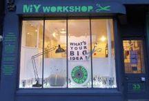 MIY Workshop Windows / Sewing themed window displays at MIY Workshop.