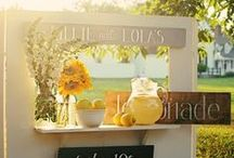 DIY Lemonade Stand Ideas / Because there's nothing more refreshing than an ice-cold glass of lemonade on a warm day. // Want to win everything you need for the ultimate summer lemonade stand? Enter our sweepstakes: http://woobox.com/fyn3x2