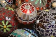 Mosaics Spheres, Pots and Containers