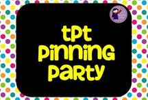 ****TPT Pinning Party / Let's pin! Let's party! You may pin up to 5 products and 7 non-products a day! Enjoy!