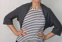 Brightside Inspiration / MIY Collection Brightside shrug sewing pattern - inspiration and makes.