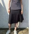 Tapton Inspiration / MIY Collection Tapton jersey skirt sewing pattern - inspiration and makes.