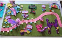 hrací plocha filc / Zábava pro děti