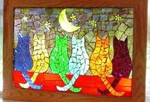 Meow / Cats done with Mosaics