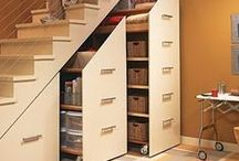 Hidden storage. / Hide and seek storage that's hidden in closets, pantries, and under the stairs.