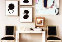 Frames. / Frame walls and picture collages.