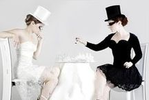 B L A C K * A N D * W H I T E / Eye catching ideas for a black and white themed party.