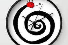 Wall clocks Horloge Pendule / Impression sur pendule