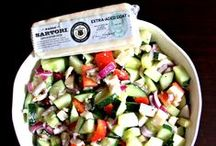 Side Dish Recipes / Cheesy pasta salads, vegetables and rolls.