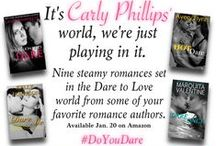 Do You Dare? / Join us in celebrating the Dare to Love world created by Carly Phillips, now featuring books by world creator Carly Phillips and authors Melanie Shawn, Marquita Valentine, Avery Flynn, Leslie Kelly, Allie K. Adams, Lauren Hawkeye, Kelly Jamieson, Robin Covington and Alannah Lynne. http://amzn.to/1C1Uoc7 / by Avery Flynn