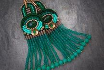 Beautiful earrings / Interesting earrings of any style. Handmade earrings - beaded, polymer clay, leather etc.