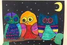 Kuvis: Eläimet: Pöllöt
