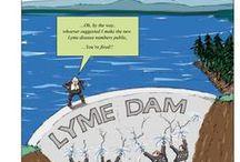 Lyme Loonies / David Skidmore funnies from Twitter - Lyme Disease humor.