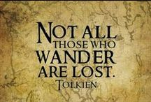 """Middle Earth  / """"All that is gold does not glitter, Not all those who wander are lost; The old that is strong does not wither, Deep roots are not reached by the frost.  From the ashes a fire shall be woken, A light from the shadows shall spring; Renewed shall be blade that was broken, The crownless again shall be king."""""""