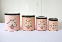 Vintage Canisters / by Barbara West