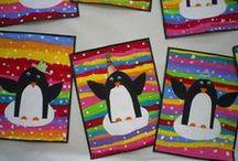 Kuvis: Talvi: Pingviinit ja jääkarhut