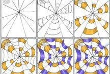 zentangle patterns / Krok za krokom