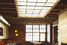 Wm. Mulherin's Sons / Provenance's reclaimed materials are among the meticulously thought out design details at this Philadelphia restaurant. Reclaimed marble and a factory window repurposed as a skylight are just a few of the eye-catching elements. Design: Stokes Architecture