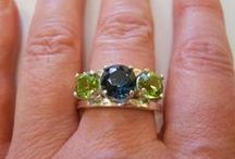 Bill Booze Fine Jewelry at MaJe Gallery / For top quality yet unique gemstone jewelry, Master faceter Bill Booze buys gemstones rough, and only the best.  He facets them himself, bringing out the greatest depth of color possible in each individual stone.  Also a metalsmith, Booze sets the stones in sterling or 14-karat yellow gold.  Need a different size?  Let us re-size it for free!