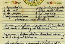 Yesterday's Recipes / I think it's important to remember recipes our mothers, grandmothers, great grandmothers... aunts, uncles, cousins... a great friend! Share your family's favorite recipes of yesterday~ ❤️