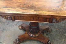 Tables / Antique card tables , tea tables , work tables , tripod tables , side tables, breakfeast table, Pembroke , tilt top