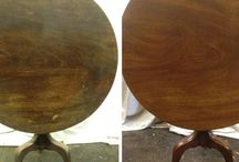 Antique Furniture pictured before and after restoration / Furniture restoration