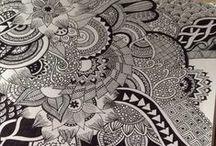 Love zentangle art