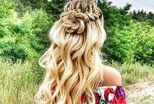 ◆  Capelli con stile - Hair style ◆ / Corti o lunghi. Naturali o colorati. Sciolti o raccolti, ma sempre bellissimi! French twist, braid, chignon, and....