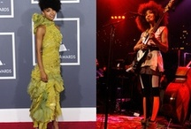 """ESPERANZA SPALDING WEARS WHAT'S MORE ALIVE THAN YOU™ / The american talented musician and singer Esperanza Spalding, who in 2011 won the Grammy Award for Best New Artist, and in that event wore on the red carpet the """"Recycle Shoes"""", has chosen again WHAT'S MORE ALIVE THAN YOU™ shoes to exhibit in public. On December 2nd, Esperanza Spalding performed in Austin in ACL Live at The Moody Theater, and wore during the performance """"Mix/Cut/Paste"""" shoes, designed by a young italian designer, Giulia Signorini and part of the SHOP COLLECTION SS13."""