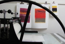 Printmaking & Other Studios / Some to dream of, some to show you can make a small studio work if you have to.