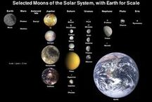 "Planets & Moons of Our Solar System / ""He buildeth His spheres in the heaven, and hath laid the foundation of His globe of elements in the earth... the Lord is His Name.""  - Amos 9: 6 (Geneva Bible of 1560 AD)"