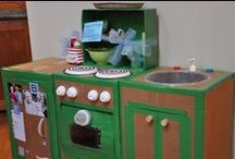 Cardboard kitchens and others