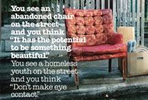 It's Cold in America / Step beyond your life and understanding to look and help some one else.