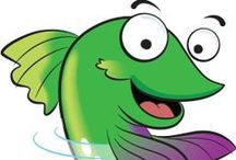 """MeL Kids / """"Are you out fishin' for some fun ways to learn online? Look what we have for you! Good stuff for school, funny poems, silly songs, books to read or listen to, Michigan facts, and lots of other cool info. It's all here! Jump (or hop) on in, the learning is great!"""" mel.org"""